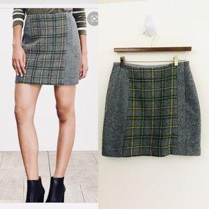 Banana Republic Plaid Tweed Mini Skirt, EUC